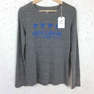 League 91 North Carolina Fish Long Sleeve Tee M
